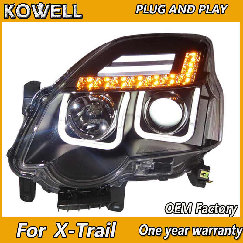 KOWELL Car Styling For Nissan X-Trail Headlights 2012 For Nissan X-Trail LED Light Q5 Bi Xenon Lens HID KIT Beam Lik