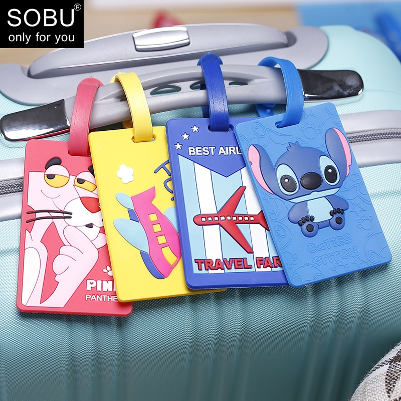 Creative Luggage Tag Animal Cartoon Silica Gel Suitcase ID Addres Holder Baggage Boarding Tags Portable Label N115