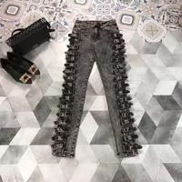 AH02762 модные женские джинсы 2019 взлетно посадочной полосы роскошь известный бренд Европейский дизайн вечерние стиль women'sClothing