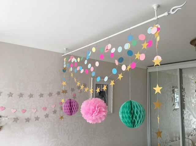 1PCS Glitter Banner Decoration Mint / Gold / White Birthday Party Wedding Decoration  Garlands Home Decorative