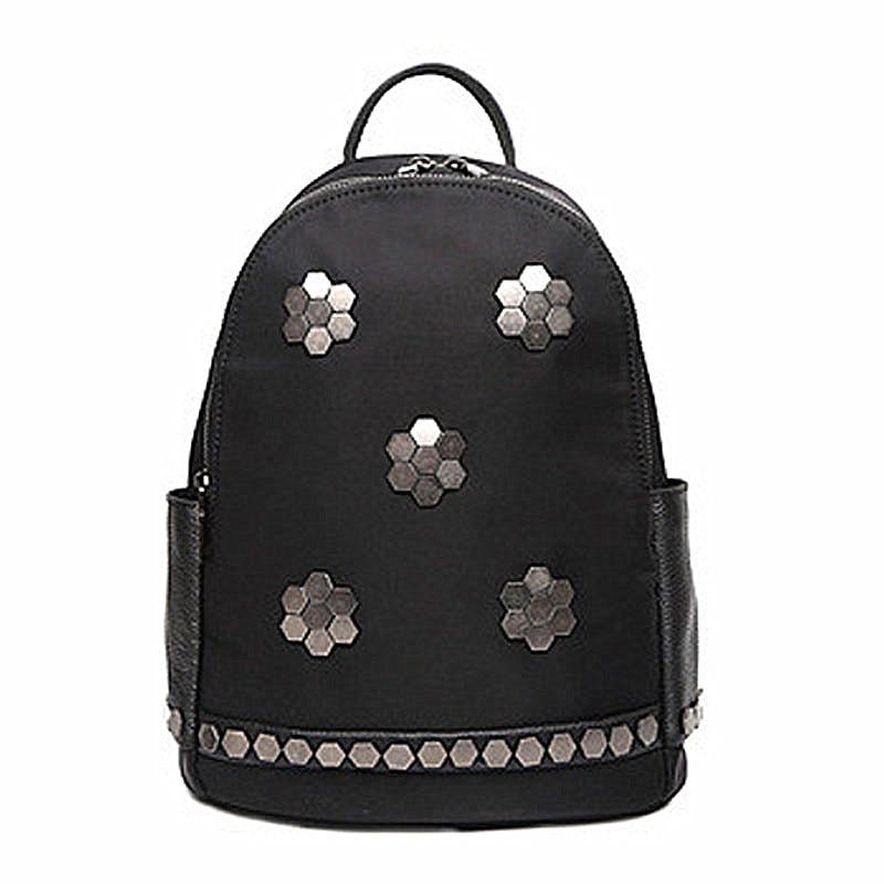 New fashion black sequined backpacks for teenage girls designer waterproof nylon colleage bags ladies zipper travel