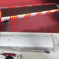 88LED WORK LIGHT BAR BEACONS SAFETY EMERGENCY WARNING STROBE LAMP RED&WHITE FLASH ROOF TOP