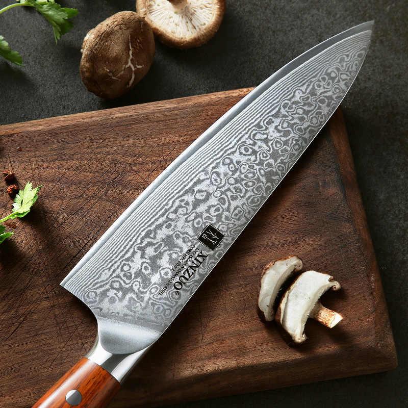 XINZUO 2 шт. кухонный набор ножей для повара дамасский стальной поварской нож кухонные ножи из нержавеющей стали кухонные столовые приборы Палисандр Ручка