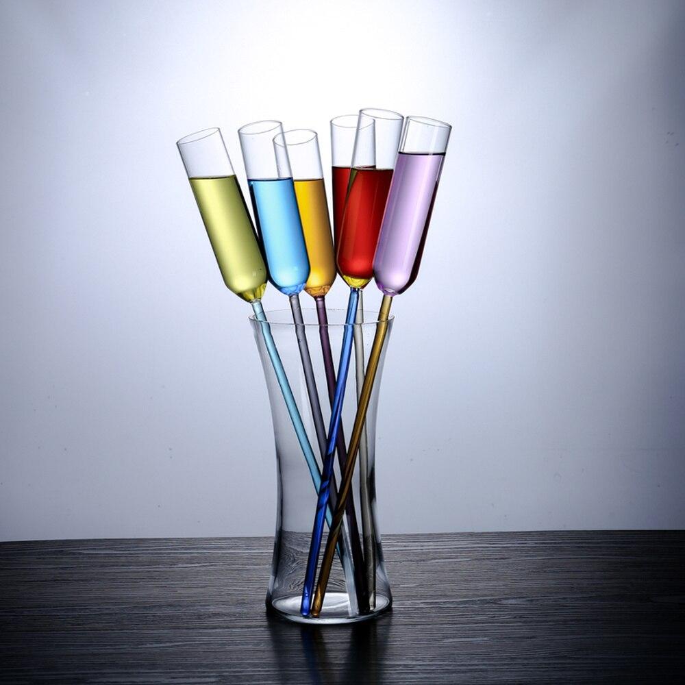 6 pièces verre couleur plage coupe champagne verre cocktail verre bar hôtel KTV loisirs spécial LM5301042py