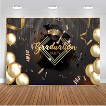 Graduation Party Backdrop for Photography Gold Balloons Photo Background Studio 2019 Class Photo Booth Party Prom Decoration class photo