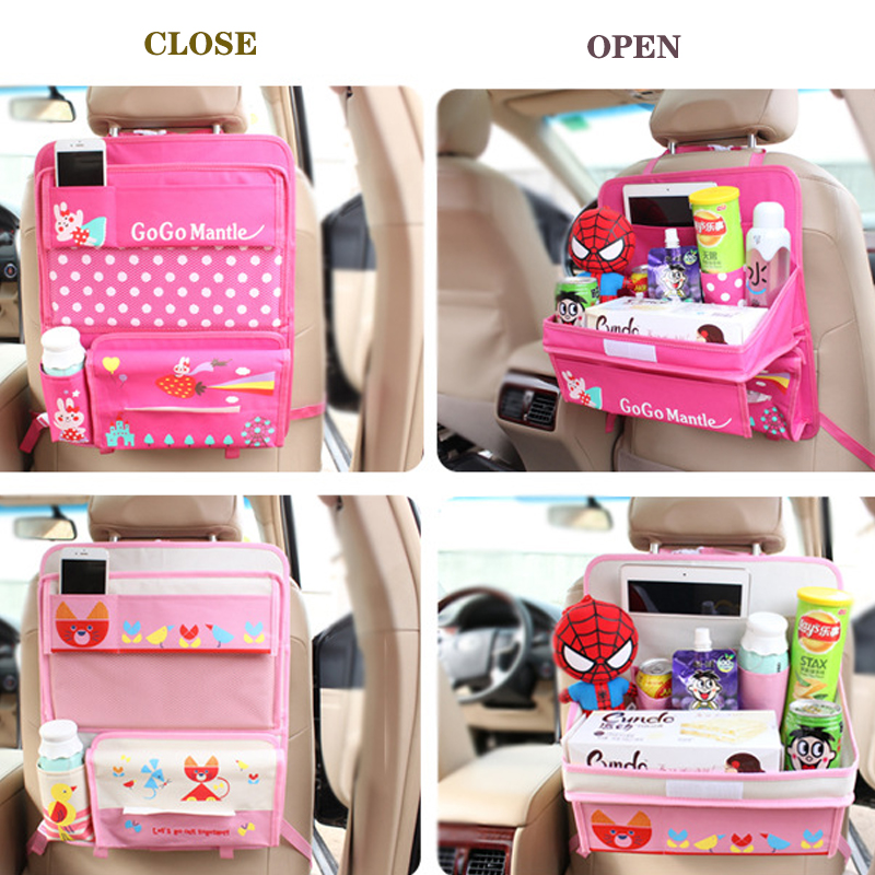 car organizer storage box seat bag with Dining rack back cover free