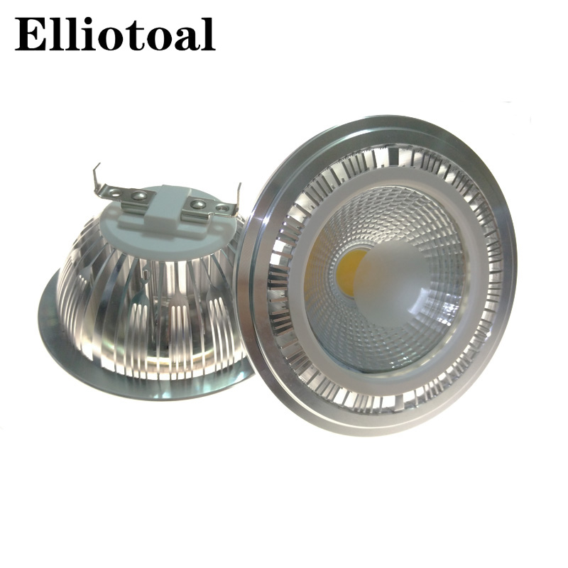 Free shipping AR111 COB lamp 10w G53 GU10 ar111 led bulb led light with GU10 base  LED spotlight AC85-265V