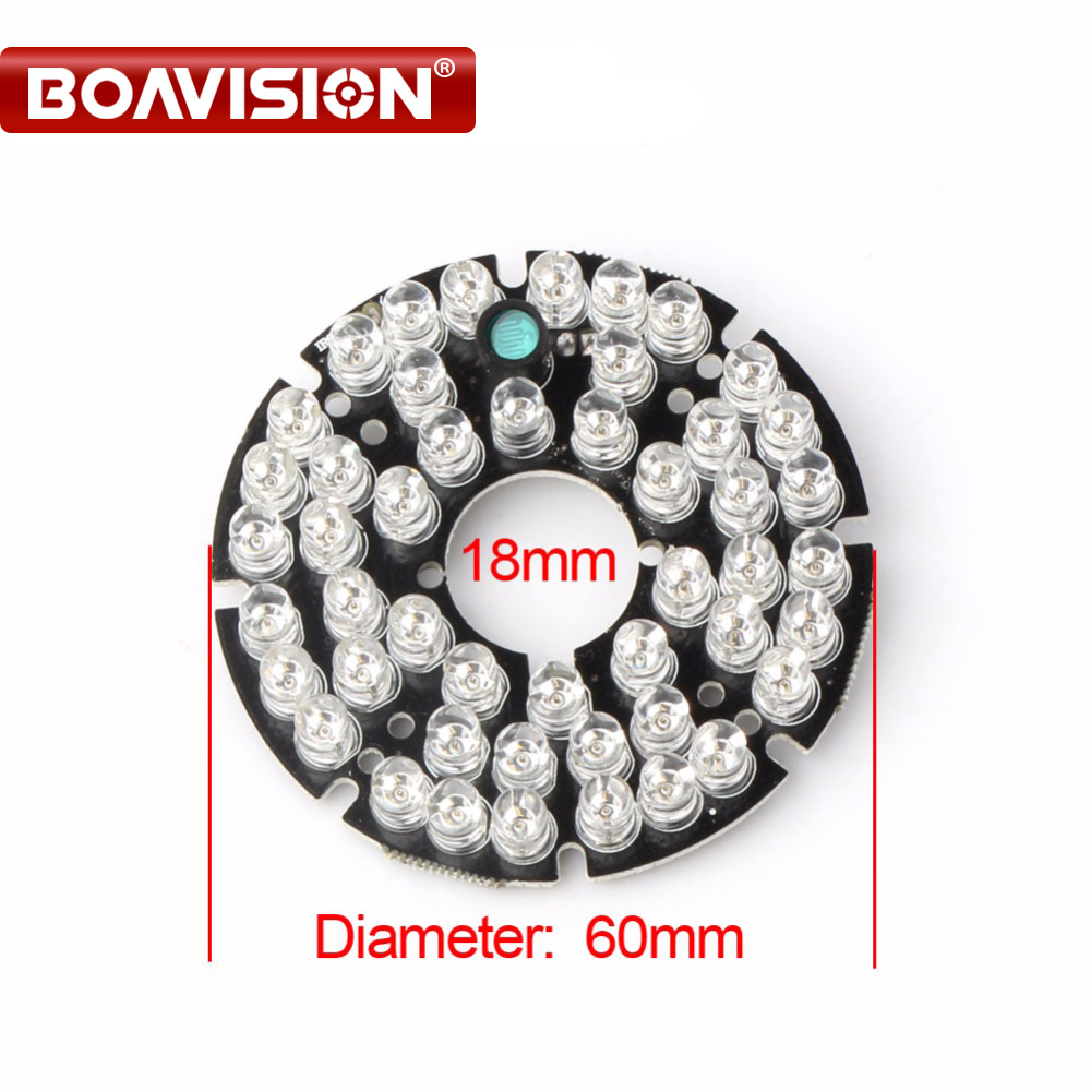 48 LEDs 5mm Infrared IR 60 Degrees Bulbs CCTV Led Board 850nm For Security Surveillance Cameras 48 leds 5mm infrared ir 60 degrees bulbs board 850nm illuminator for cctv camera