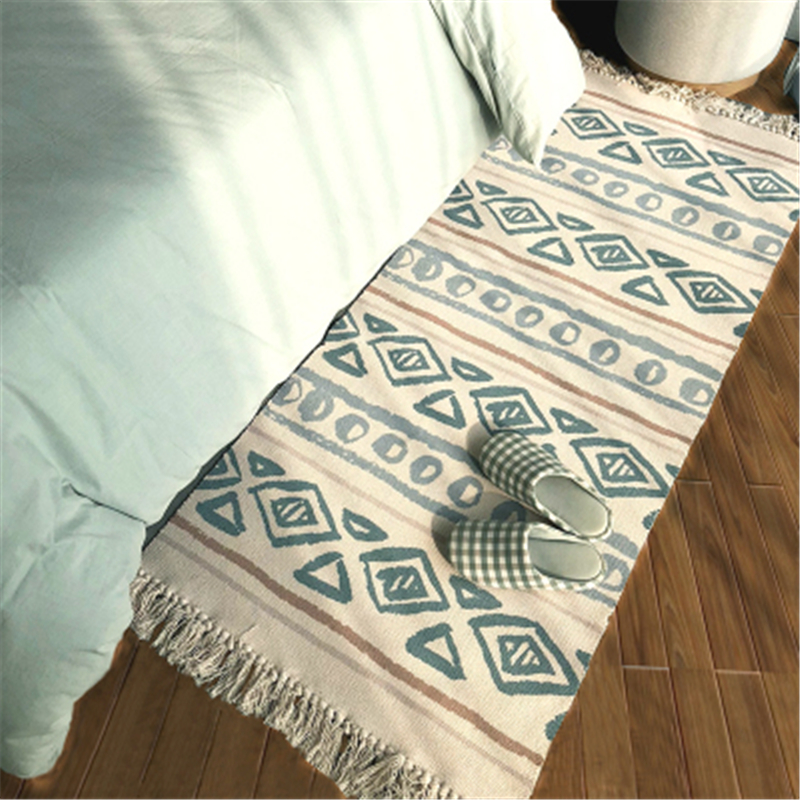 70X160cm 2018 Hot Sale Cotton Carpets For Living Room Bedroom Kid Room Rugs Home Carpet Floor Door Mat Bed Beside Area Rug Mats