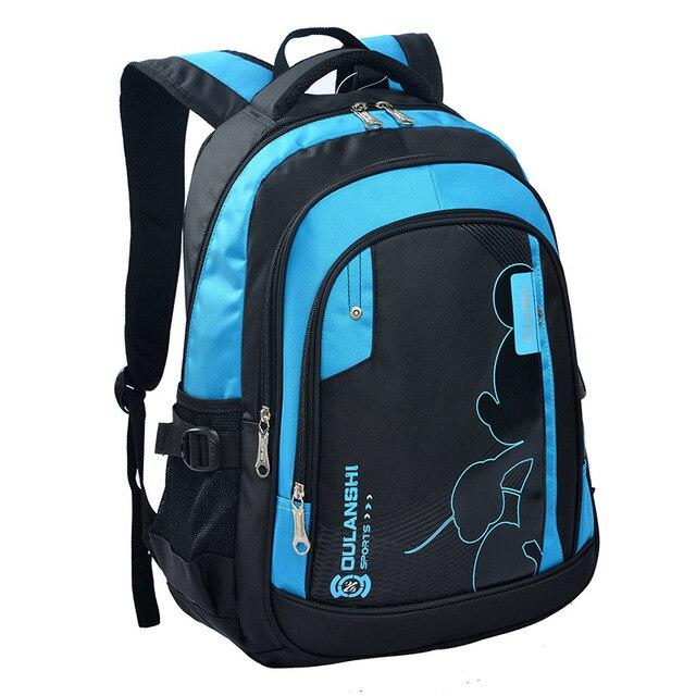 2016 news children school bags orthopedic school backpack for boys waterproof school satchel kids schoolbag bookbag mochila Q1