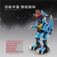 Voice command one key deformation RC deformation robot electric Pet RC Dinosaur Toy Human Warrior