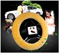 12 colour Winter Short plush Car Steering Wheel Covers Fit  for 95% car suitable for fashionable women