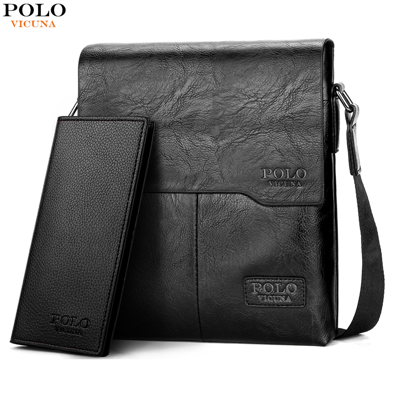 28197f9b837 VICUNA POLO Vintage Fashion Mens Leather Bag Brand Casual Business Mens Bag  High Quality New Mens