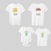 Family Matching Clothes 2019 NEW Summer Mens Women T-Shirt Girls Boys Kid Tops Tee Shirt Clothing O-neck