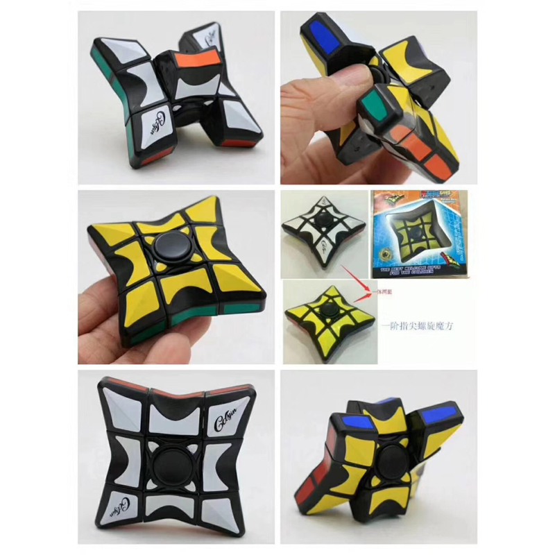 2018 New Fingertip gyro fidget spinner Puzzle Cube Plastic Profissional Adult Children Anti Stress Education Toy For Gift magico