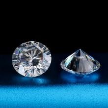 16 corações e 16 setas grânulos brancos ef 7mm moissanites para anel de noivado