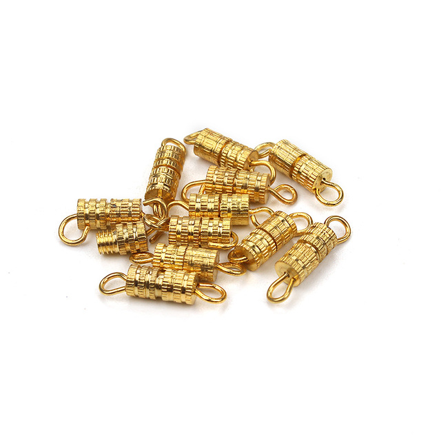 10pcs/lot diy jewelry accessories gold silver rhodium plated Screw Clasps buckle Suitable For Bracelet Necklace