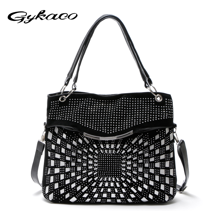 Gykaeo Designer Handbag High Quality Leather Large Capacity Shoulder Bags Handbags Women Famous Brands Messenger Bag Sac A Main elunico 2018 new large capacity cowhide tote bags handbags women famous brands genuine leather messenger shoulder bag sac a main
