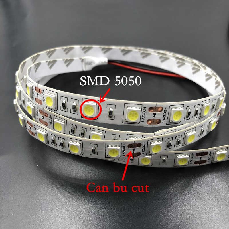 ECLH SMD RGB LED Luz de tira de 5050, 2835 10 M 5 M luz LED rgb LED cinta de cinta Flexible controlador DC 12 V 3A Juego de adaptadores