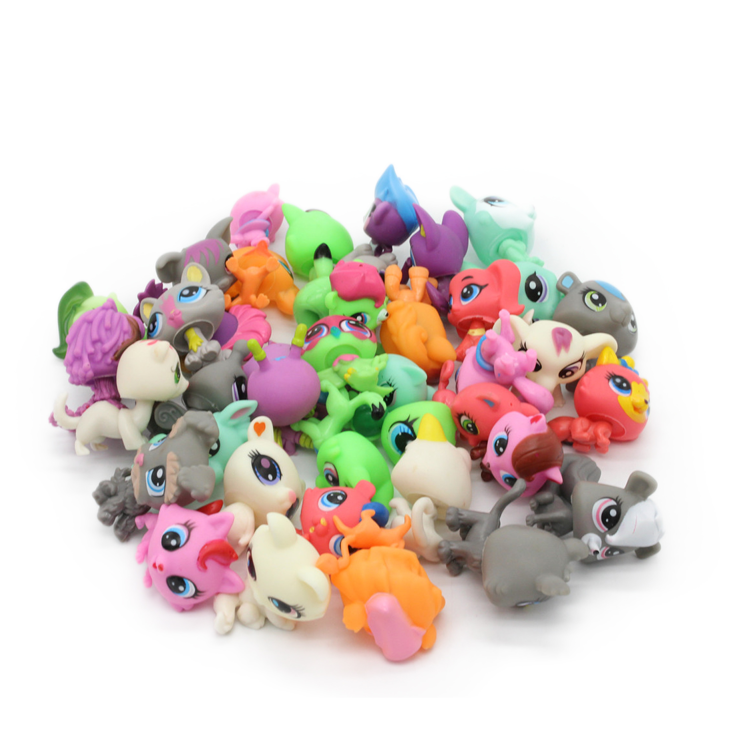 LPS New Style lps Toy bag 32Pcs/bag Little Pet Shop Mini Toy Animal Cat patrulla canina dog Action Figures Kids toys push along walking toy wooden animal patterns funny kids children baby walker toys duckling dog cat development eduacational toy