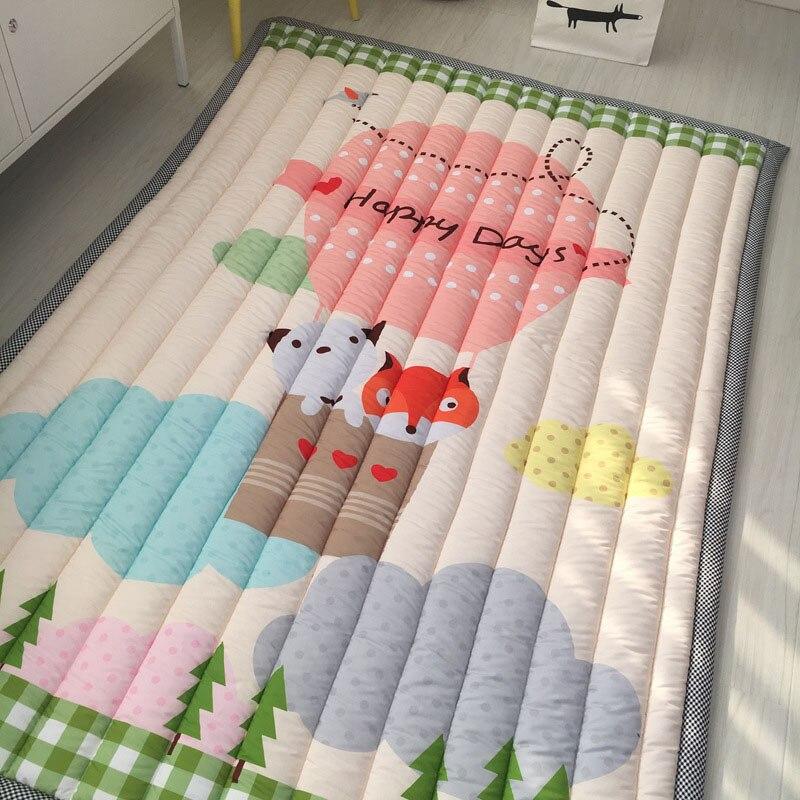 Infantile brillant bébé tapis de jeu 3CM épaisseur épaississement de pliage 140X195CM le jeu couverture chambre tapis dessin animé bébé tapis