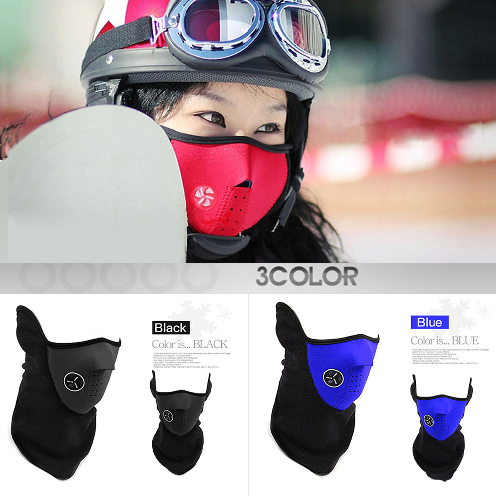LUSHQ 2019 Motorcycle Face Mask Cool Face Shield Biker Face Mask Motorcycle Windproof Lycra Motorcycle Mask Mascara Moto