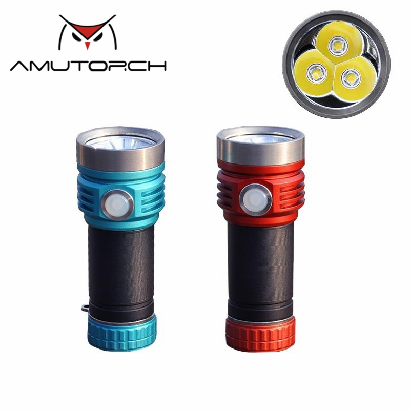 Amutorch X9 3X SST40/XPL HD Type C powerful USB Rechargeable USB Charging Stepless Dimming Super Bright 26650 LED Flashlight