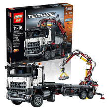 LEPIN 20005 Technic Series Mercedes-Benz Arocs Model Building Kits Minifigures Blocks Bricks Children Toy Gift Compatible Legoed
