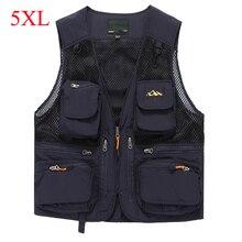 AFS JEEP Military tactical mesh vest men breathable photographer multi pockets vest waistcoat colete masculino mens outwear