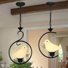 Pássaro pingente luzes moderno contratada personalidade criativa arte penduradas lâmpada café bar sala de jantar restaurante iluminação Da Cozinha