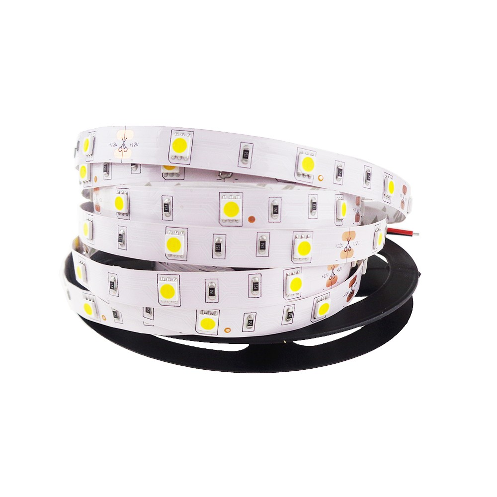 China Supplier 150leds 5M WW NW CW RGB 12V 24V LED LightIP20 IP65 IP68 Waterproof SMD5050 7.2W/M Flexible LED Strip