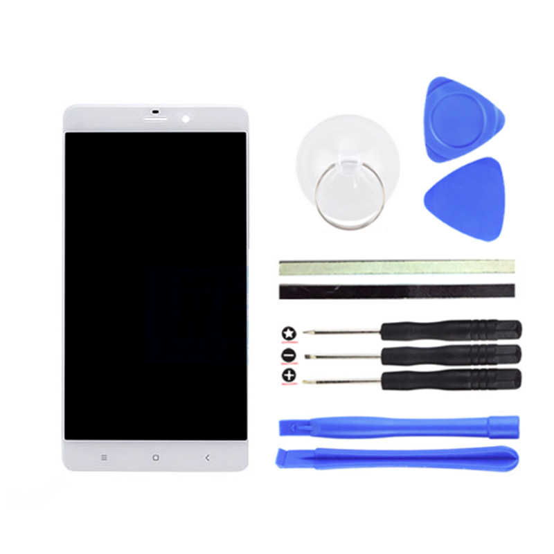 ФОТО 1PCS White 5.7Inch For Xiaomi note LCD Display + Digitizer Touch Screen Replacement MI Note Cell Phone Parts + Free Tools