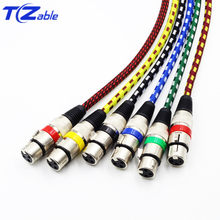 XLR Cable 3 pins Male To Female Cannon XLR Connector Adapter AUX Extension Wire Audio Jack For Microphone Amplifier Speaker Cord