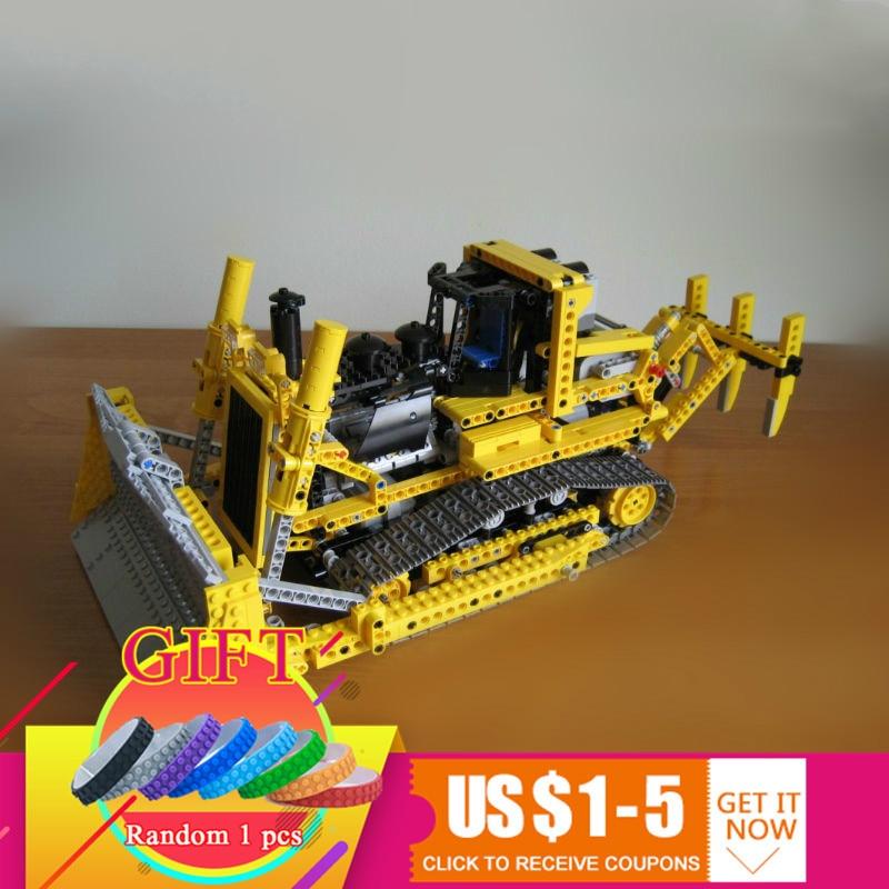 Здесь продается  20008 1384pcs series remote contro lthe bulldozer Model Assembling Building blocks kits Compatible with 8275 toys  Игрушки и Хобби