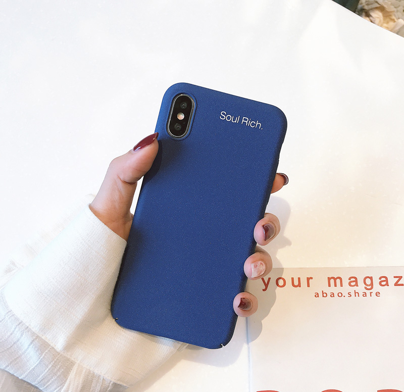 Mr.orange Simple Pure Color Atmosphere Business Blue for Apple X Mobile Shell iphone7plu ...