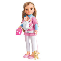 17 Inch Plastic Dolls Simulation Children Baby Juguetes Girl Had A Home Walk The Dog Children