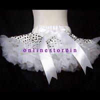 Free Shipping Sample Order Black Polka Dot White Girl Skirts Girls Pettiskirts Baby Skirts Toddler Tutu