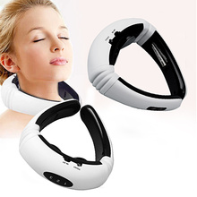 Electric Pulse Back and Neck Massager Far Infrared Pain Relief Tool Health