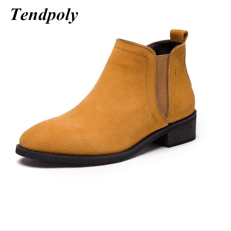 The latest fashion retro women's boots 2018 autumn and winter round the end of thick wild leather boots hot section casual shoes autumn and winter new leather shoes with leather boots and boots with flat boots british classic classic hot wild casual shoes