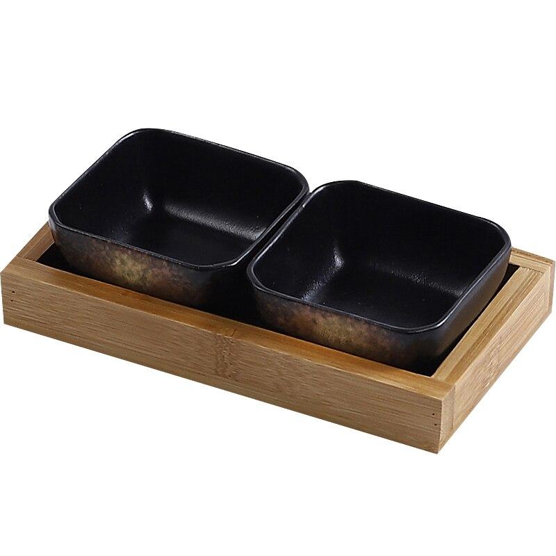 Креативная керамическая сетки Фруктовая тарелка для закуски пластины сервировочное блюдо японская маленькая тарелка с подносом домашних настольных высушенный плодоовощ закуска лоток-4