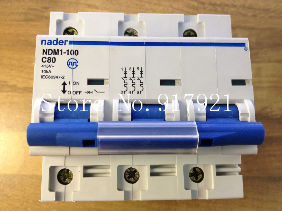 [ZOB] Nader letter NDM1-100 C80 genuine new miniature circuit breaker 3P80A air switch --5pcs/lot citilux подвесная люстра citilux базель cl407132