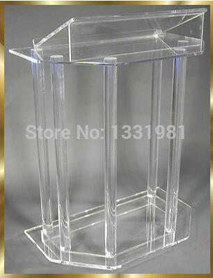 Free Shipping Custom Acrylic Lectern Plexiglass Pulpit Modern Acrylic Pulpit Lectern Wholesale Church Lectern