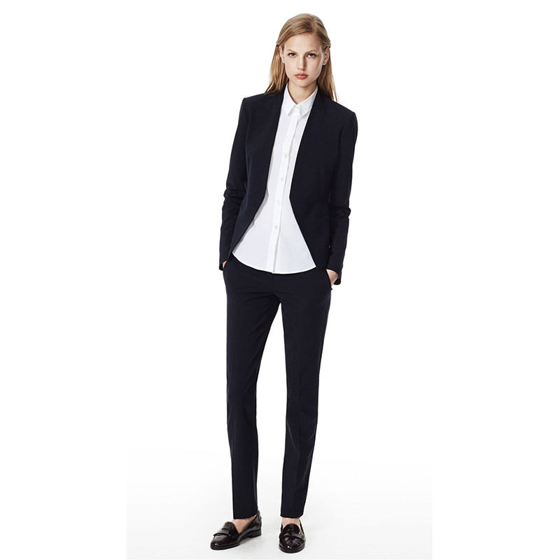 2018 New Design Womens Pants Suits Ladies Black Trouser Suit Business Wear Female Office Suits B39