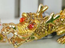Дракон Длинные Кольца Брелок Модные Драгоценности Женщины Сумку Кристалл Rhinestone Шарм Подвеска Брелок Подарочный Moda 2015