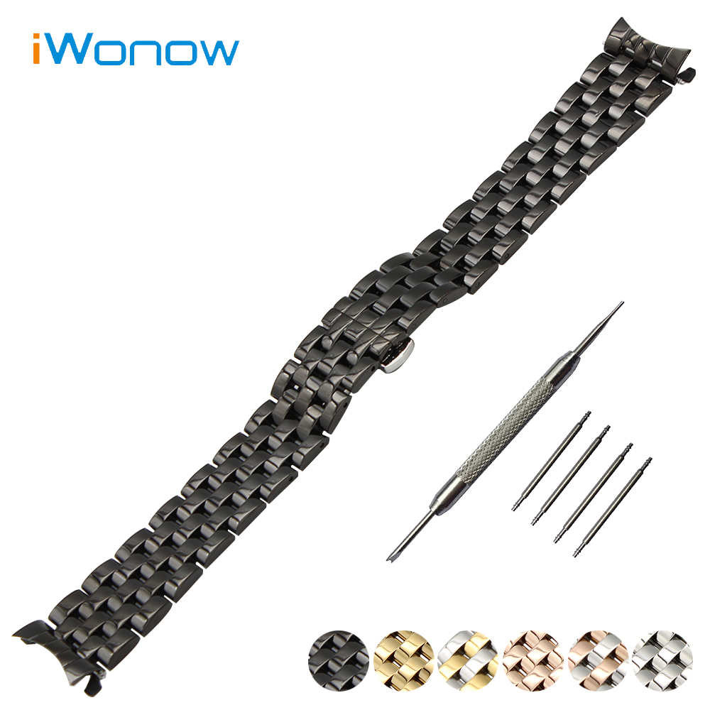 Stainless Steel Watch Band 18mm 20mm 22mm 24mm for Jacques Lemans Curved End Strap Butterfly Buckle Wrist Belt Bracelet curved end stainless steel watch band for breitling iwc tag heuer butterfly buckle strap wrist belt bracelet 18mm 20mm 22mm 24mm page 5