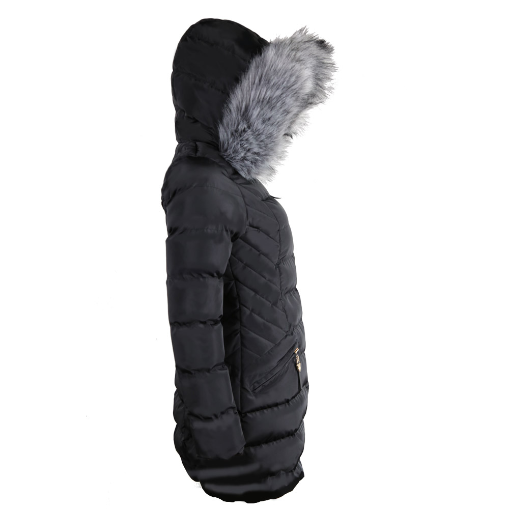Popular Black Padded Coat Real Fur-Buy Cheap Black Padded Coat ...