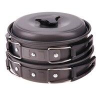 Cooking Picnic Camping Bowls Cookware Tools Outdoor Camping Hiking Cookware Bowl Pot Pan Set Camping