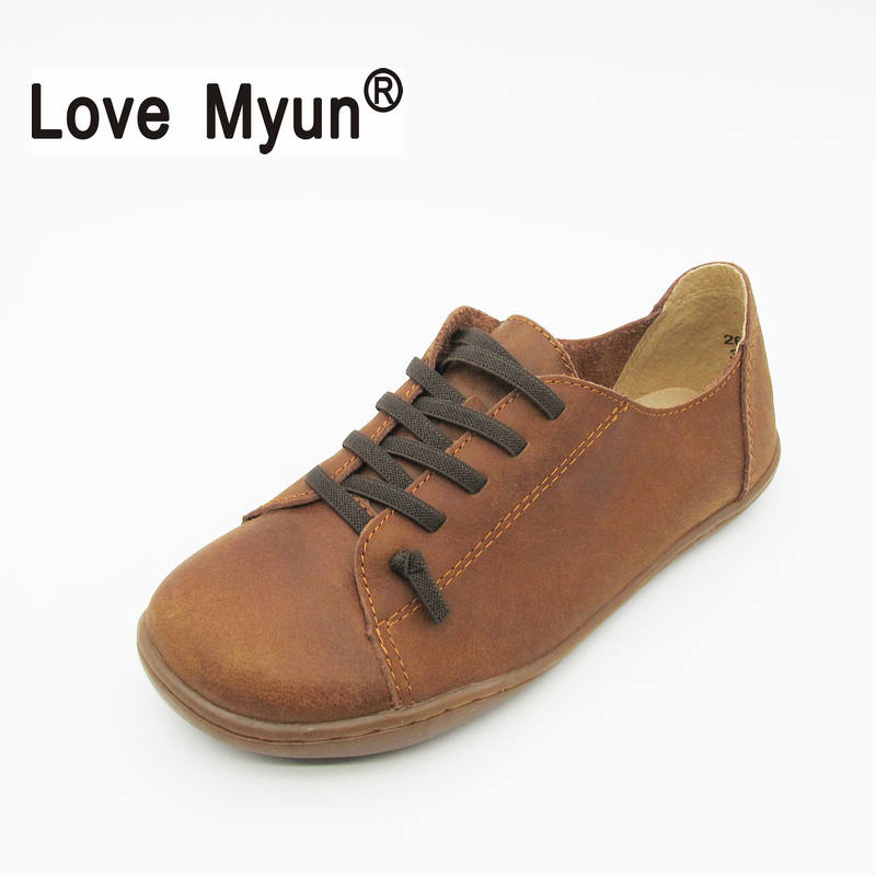 Women Shoes Flat 100% Authentic Leather Round toe Lace up Ladies Shoes Flats Woman Moccasins Female Footwear 742 women shoes flat genuine leather hand made ladies flat shoes black brown coffee casual lace up flats woman moccasins 568 5