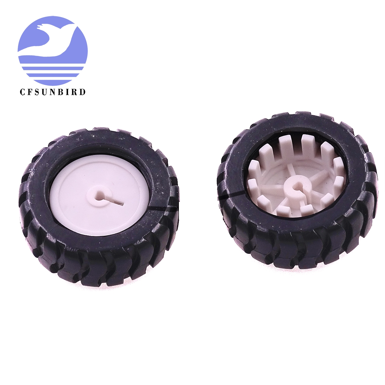 Persevering Rubber Wheels Tires Trye 43*19*3mm D-hole Shaft Wheel For Robot Smart Car Platform Diy Rc Toys Wholesale 50pcs Cool In Summer And Warm In Winter Electronic Components & Supplies