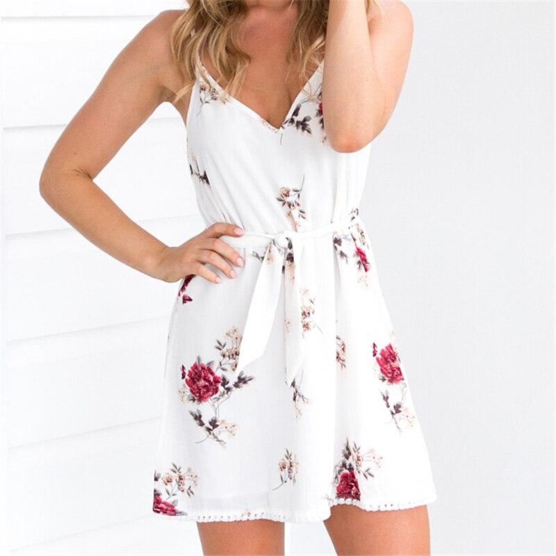 HTB1mj8vOmzqK1RjSZPcq6zTepXay Meihuida Women Summer Boho Spaghetti Strap Dress Short Dress Evening Party Dresses Beach Sundress